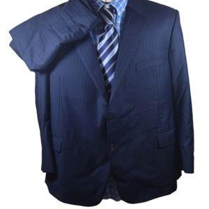 Hickey Freeman Blue Tasmanian Loro Piana Suit 52R
